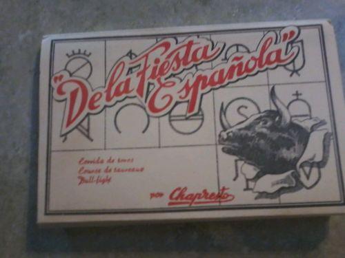 Vintage Bullfighting Postcards 10 pics Dela Fiesta Espanola unused