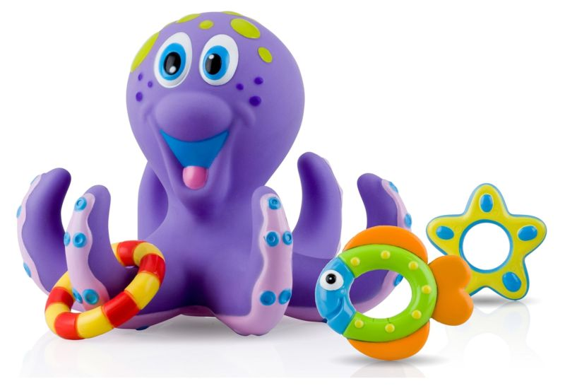 Octopus Floating Hoopla Water Toy for Kids Bathtime Baby Pooltime