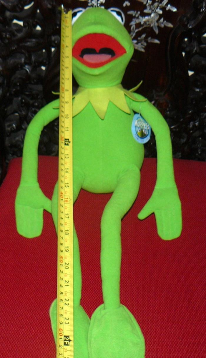NANCO KERMIT THE FROG  PLUSH 27 INCHES WITH TAG POSEABLE
