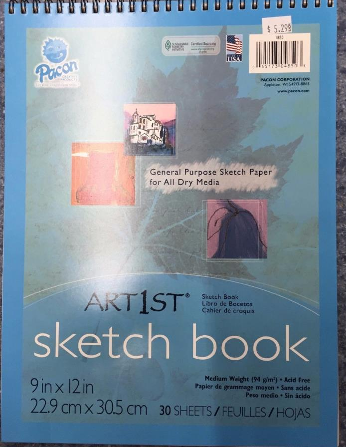 Pacon Artist's Sketch Book  9 x 12 White 30 Sheets