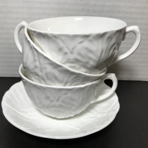 COALPORT Countryware Bone China: Lot of 3 Teacups & 1 Saucer ~ Replacement