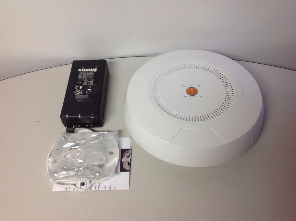 Xirrus XR2000 Wi-Fi Array XR2425 w/ Power Injector POE75U-1UP-X-R & mount