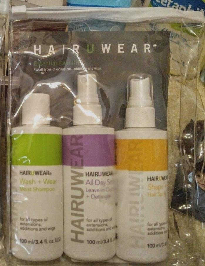 Care Kit For Wigs Extensions Shampoo Leave In Conditioner & Spray 100ml