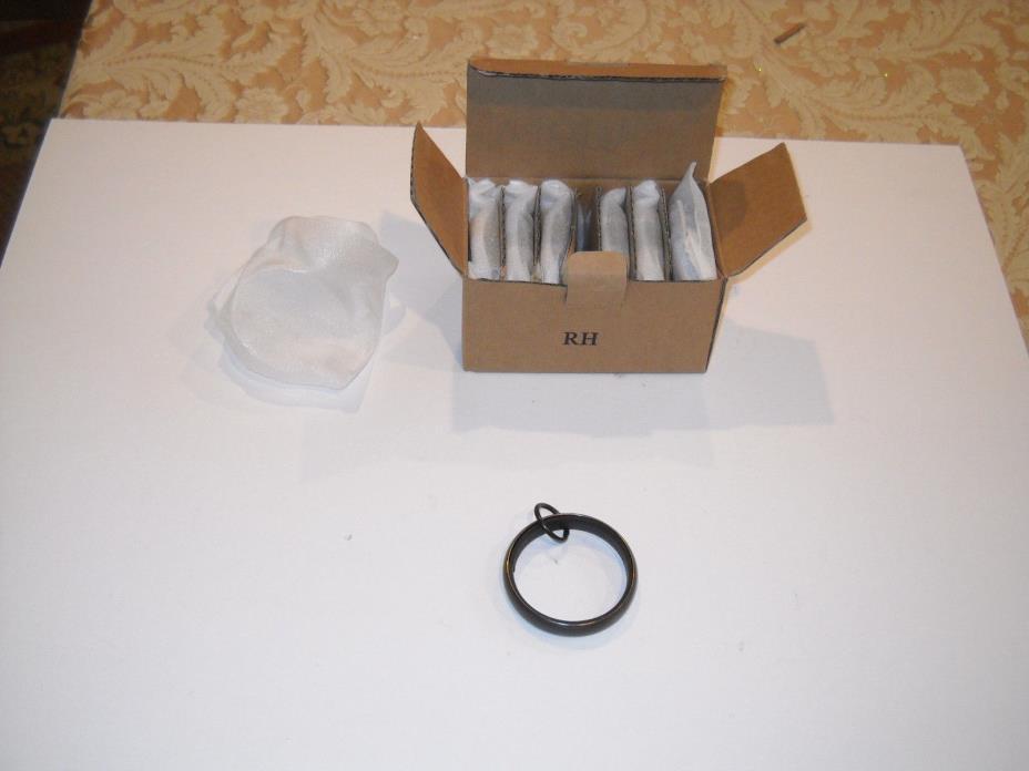 Restoration Hardware Set of 7 Medium Loop Curtain Rod Rings 1 1/2