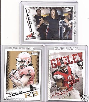 2015 Sage  HIT Todd Gurley (Georgia)  Rookie Lot - All 3 Different Versons!