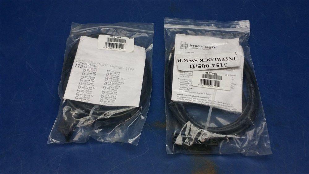 Lot of 2 - Interlogix Interlock Switch 3154-005/D 115-6Y-06K