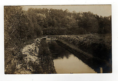 MILITARY RPPC Real Photo Postcard 1900s TRENCH Canal LANDSCAPE Nature