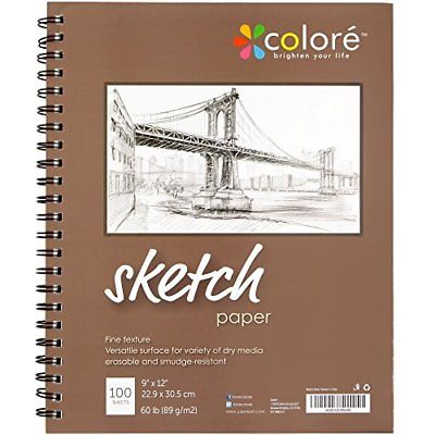 Colore Sketch Pad Durable Sketching Paper And Notebook Material Great For With