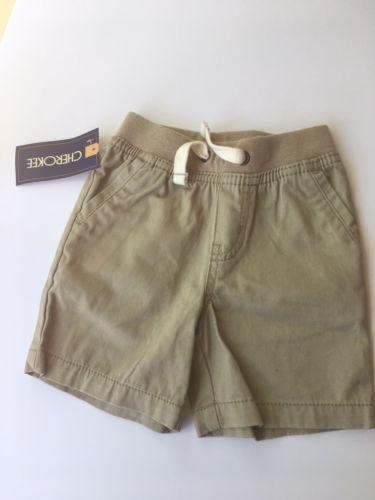 Boys Vintage Khaki Shorts Size 18m NWT