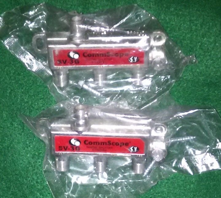 Two CommScope SV-3G Digital Splitters 5-1002MHz -New! Free Shipping!