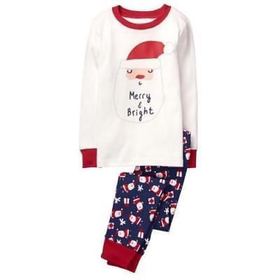 NWT Gymboree Santa Merry Bright Gymmies Sleepwear Pajamas 2T