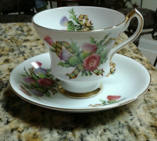Vintage Society Fine Bone China Teacup & Saucer Set Floral Design X 958/89