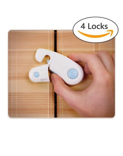 Cabinet Locks - Pack of 4 Child Safety Locks for Cabinets -