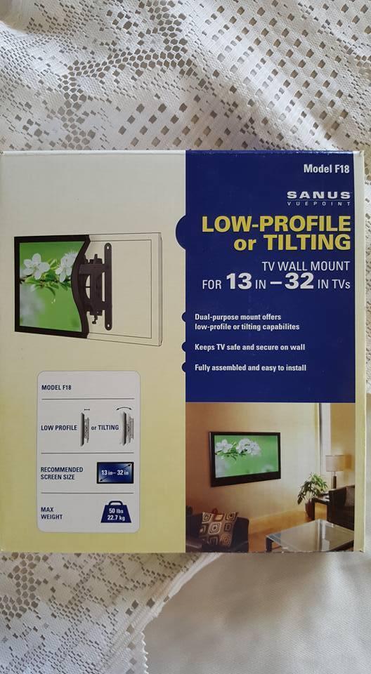 TV Wall Mount Sanus Model F18 For 13