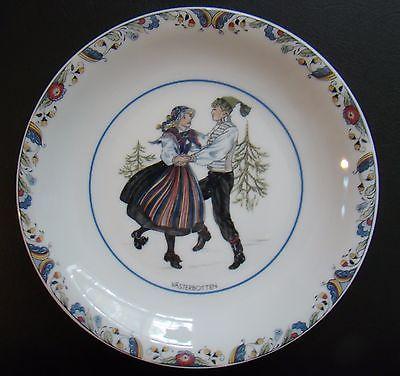 Rorstrand Swedish National Costumes Porcelain Plate Vaserbotten Sweden