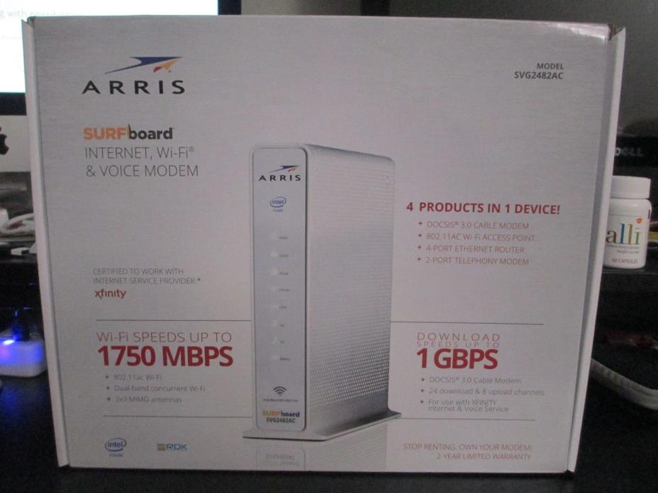 ARRIS SURFboard SVG2482AC Docsis 3.0 Cable Modem WiFi Router XFINITY voice VOIP