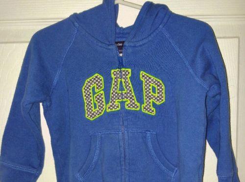 Baby Gap Toddler Blue checkered black & Neon Hoodie Sweatshirt size 18-24 Months