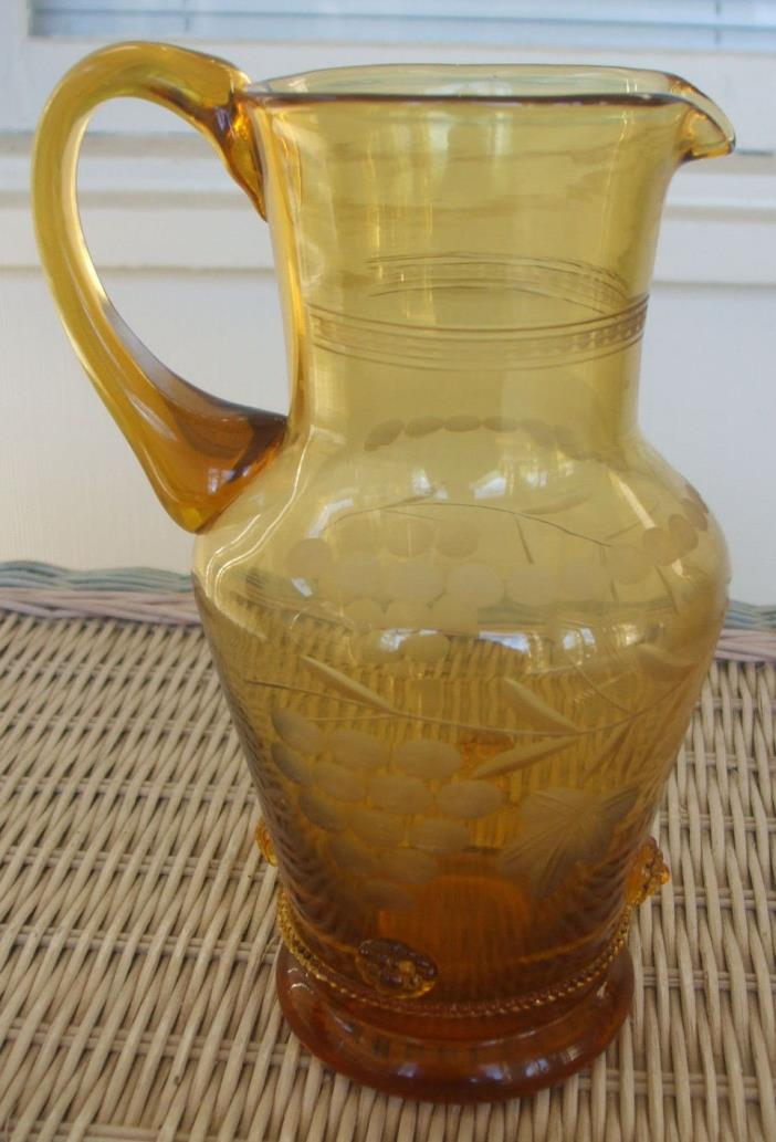 Bohemian Blown Amber Glass 9