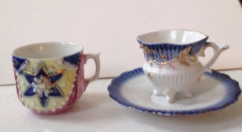 Early 20th C. Demitasse Cup Germany Lot 2 Raised Design