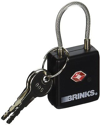 Brinks TSA Approved Keyed Lock with Cable Shackle - NEW - FREE SHIPPING!