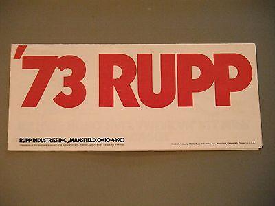 1973 Vintage Rupp Snowmobile Foldout Brochure