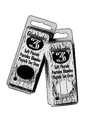 ACCO 105C ALPHACOLOR CHAR-KOLE QT SOFT PASTELS 3-SET