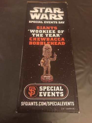 SF GIANTS 2015 Star Wars Chewbacca Wookie of the Year bobblehead bobble 10/03