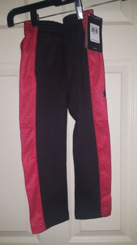 NIKE AIR JORDAN Toddler Boys Jumpman THERMA FIT Warm Sweat Pants BLACK RED Sz 4T