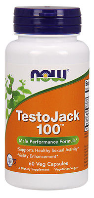 NOW Foods TestoJack 100, 60 Vegetable Capsule