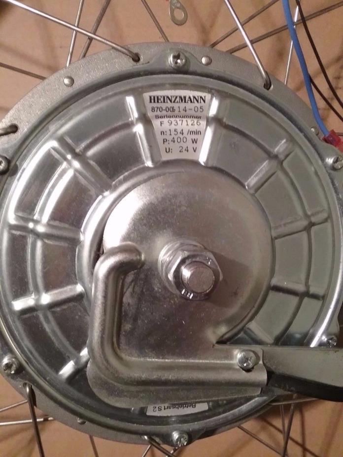 HEINZMANN DISC Brushed  Wheel MOTOR TYPE 400W 24V Alex DBL WALL 6061 SS SPOKES