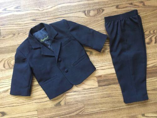 Raphael Little Boys Black Suit Sz 18 Months Pants Jacket