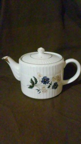 Vintage Ellgreave Floral Teapot With Gold Trim -