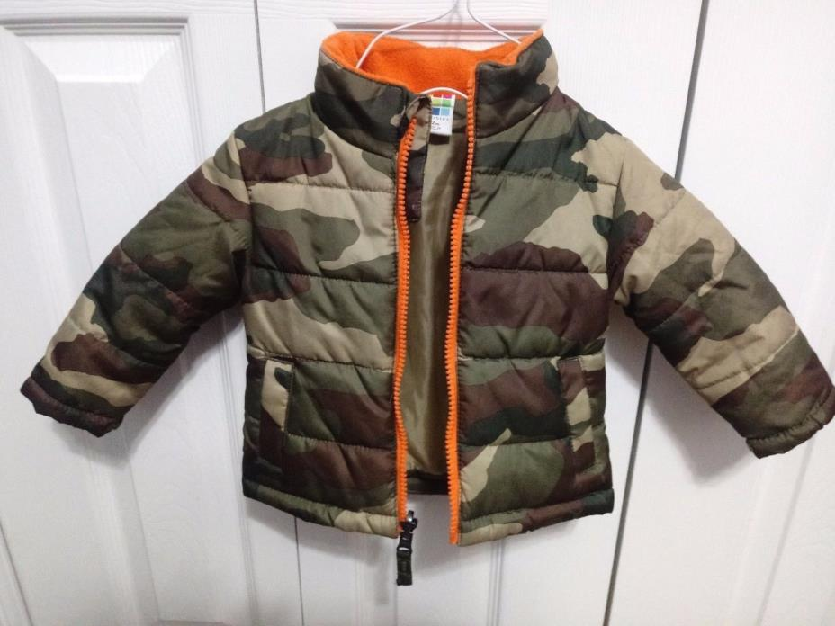 HEALTHTEX Toddler Boys Jacket SIZE 12m CAMO Puffer Winter Coat Full Zip VGUC!