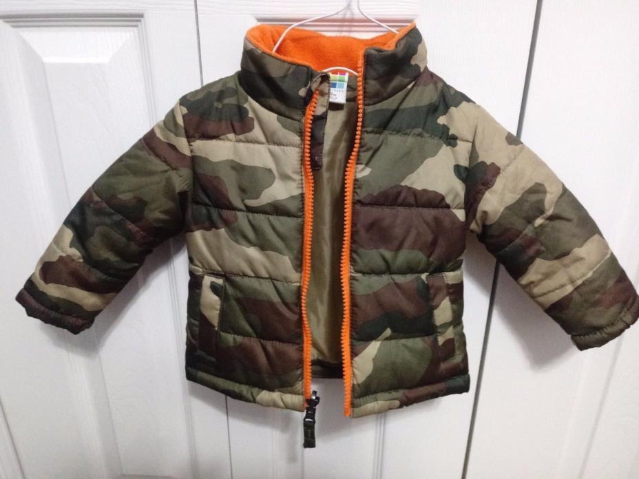 HEALTHTEX Toddler Boys Jacket SIZE 12m CAMO Puffer Winter Coat Full Zip VGUC!