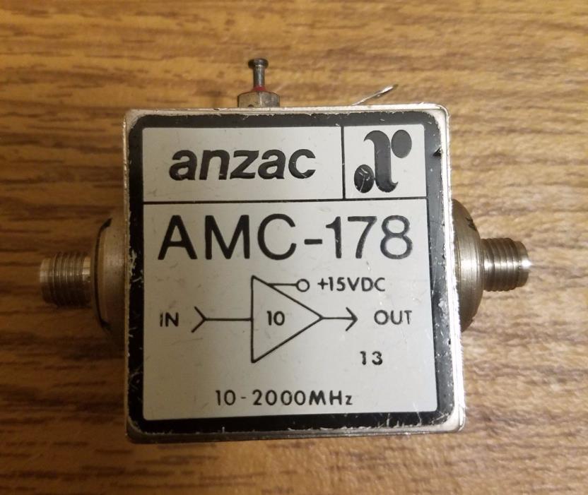 10-2000MHz Low Noise Amplifier, Anzac AMC-178 SMA