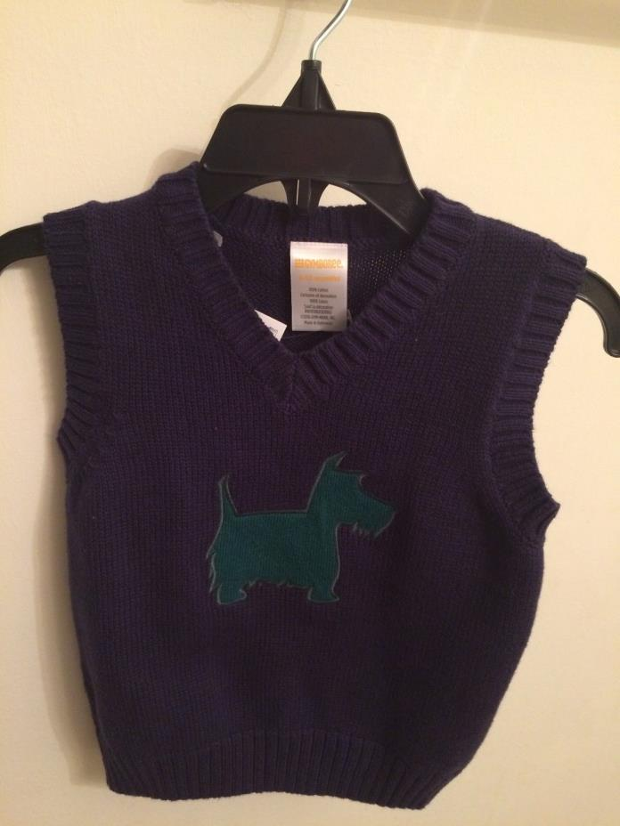 Gymboree Boys Scottie dog Vest Navy Blue 6-12 months NWT