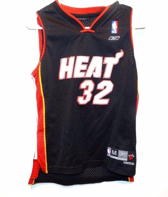 Reebok Shaquille O'Neal #32 Miami Heat Jersey Youth Medium Black NBA Basketball