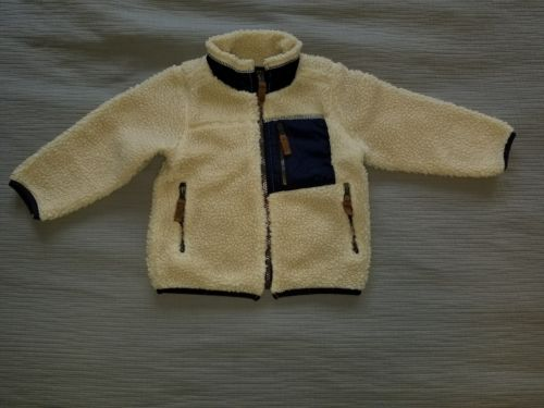 Carter's Cream & Navy Zip-up Jacket/ Coat, Toddler 2T.  *Free Shipping*