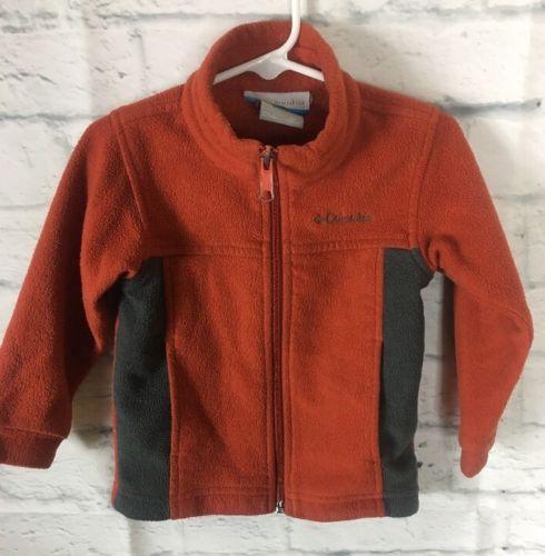 Boys Kids Youth 3T Toddler Baby Columbia Full Zip Up Jacket Fleece Burnt Orange