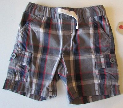 NEW Levi's  Boys Plaid Cargo Shorts Sz. 18 Mos