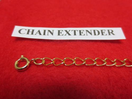 5 INCH 14 KT GOLD PLATED 4MM NECKLACE EXTENDER WITH SPRING RING CLASP