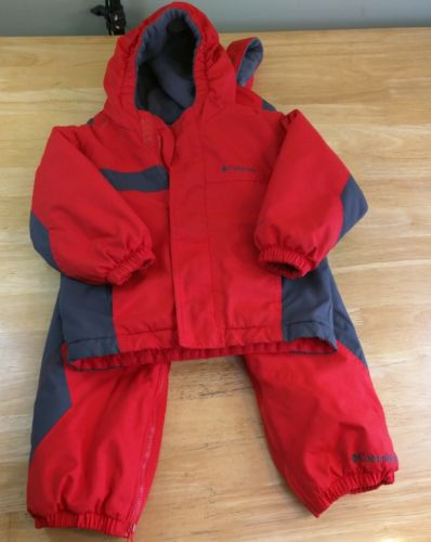 Columbia  set snow jacket and pants 3T boys red