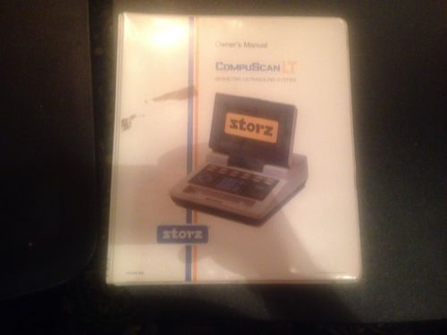 STORZ COMPUSCAN LT owner's Manual For Ophthalmic A Scan