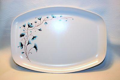 MCM Platter tray Blue flower Melamine VTG MOD 1950s 60s Morning Glories