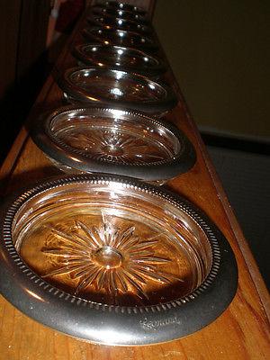 "Silver plate 8 coasters ""Leonard"""