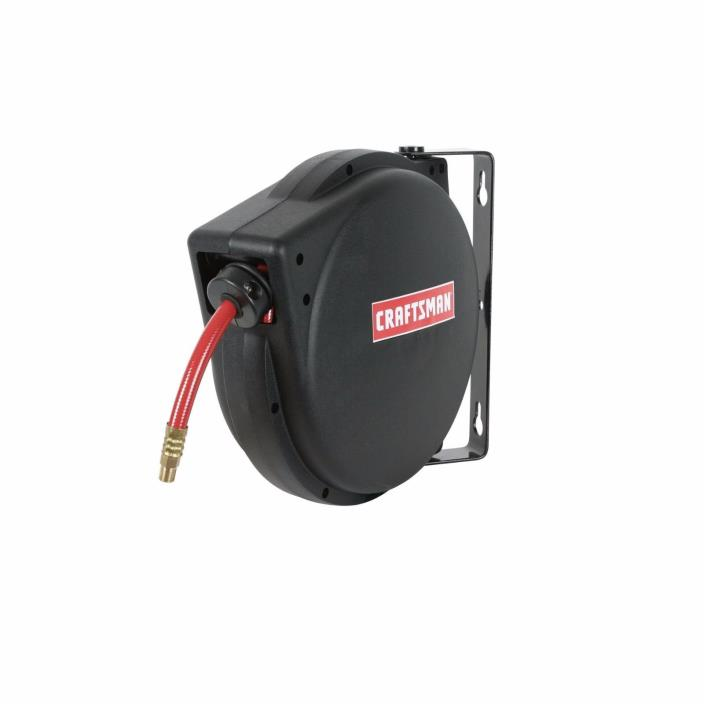 Craftsman Workforce Air Compressor Plastic Hose Reel and Hose 3/8 Inch x 30 feet