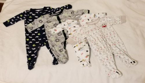 long sleeve footed sleeper 6 to 9 month bundle lot