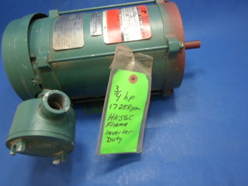NEW RELIANCE ELECTRIC DUTY MASTER AC MOTOR, P56X4077S-MF, 3/4 HP, 3 PHASE, NNB