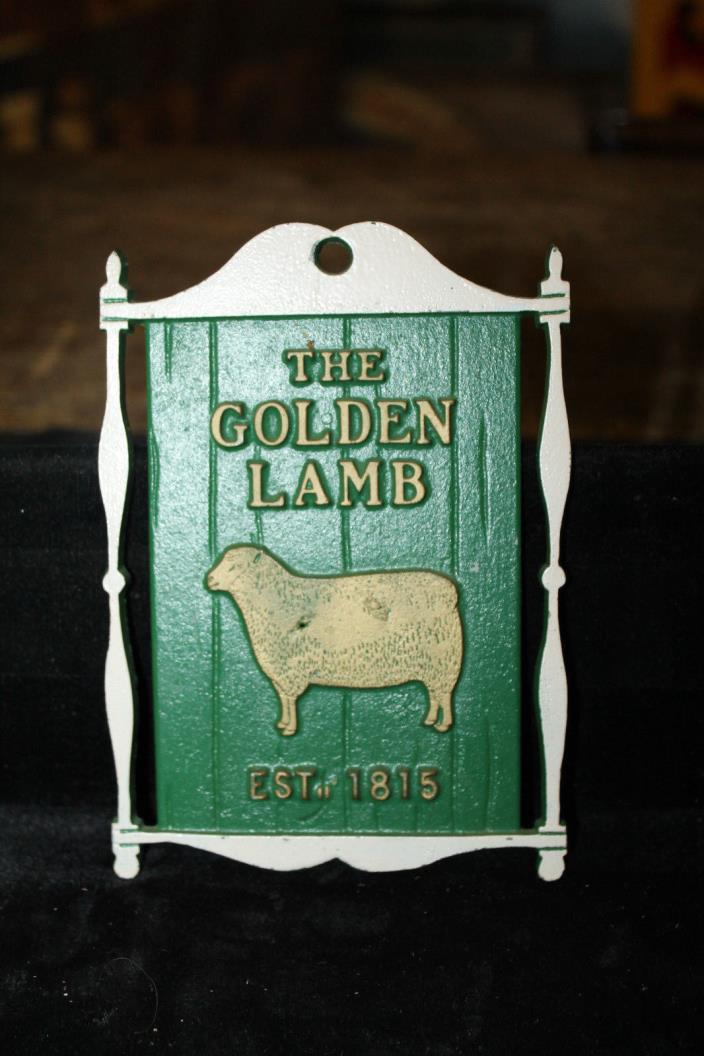 The Golden Lamb Est. 1815 Small Metal Plaque Pub Public House Sign Tavern Bar 6