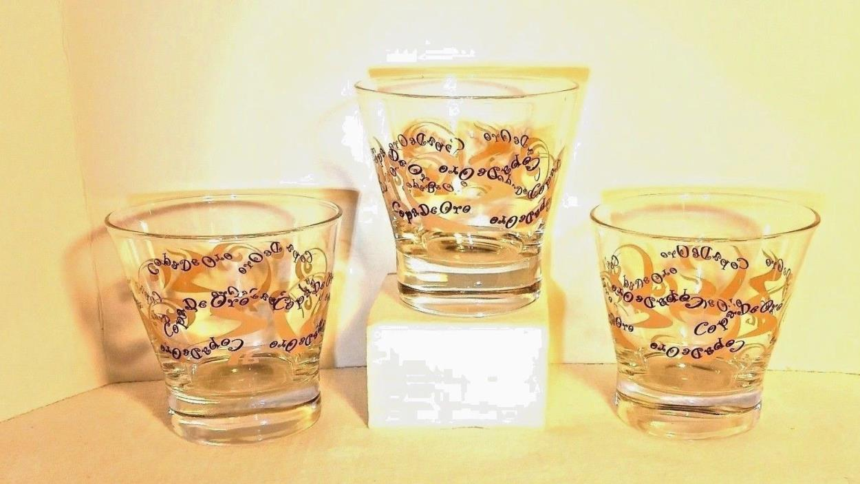 ( 3 ) Copa de Oro Martini / Low Ball Glasses Lot of 3